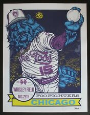 Foo Fighters 2015 Chicago Concert Poster *Purple & Blue Variant* Signed By Ames