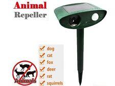 Solar Animal Rodent Ultrasonic Repeller Cat Dog Pest Deterrent PIR Motion Sensor