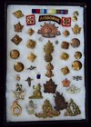GB & Commonwealth military medals & pins  ww I & II collection in display case