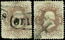 Brazil Scott #54a and #54 Used