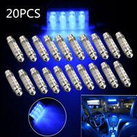20x 42mm Soffitte Sofitte 8 LED Birne Innenraumbeleuchtung Kennzeichen Blau  P