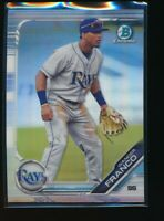 WANDER FRANCO 2019 Bowman Chrome Draft REFRACTOR Tampa Bay Rays Rookie Card RC