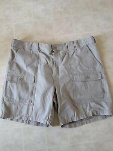 New Foundry Men's British Khaki Cargo Shorts Size 52 100% Cotton NEW