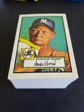 Donald Trump 1952 Topps style lot (100) Baseball Cards Free Shipping !!!