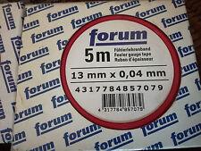 verschiedene Stärken Fühlerlehrenband Lehrenband B:13mm L:5m feeler Gauge Tape $