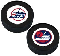 Winnipeg Jets Vintage NHL 3D Textured Collectors Hockey Pucks (2-Pack)