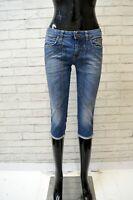 JECKERSON Bermuda Jeans Donna Taglia 26 Pantalone Corto Pantaloncino Cotone Slim