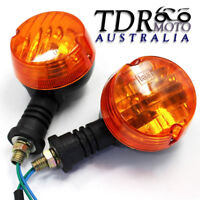 Universal 12V Motorcycle Turn Signal Indicator Light Blinkers Amber Lamp Vintage