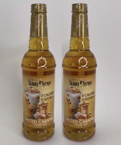 2x Jordan's Skinny Syrups Sugar Free Salted Caramel 750ml 25.4 Oz 2 Bottles