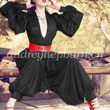 Latex Rubber Gummi Women Shirt And Pants Set Fashion Party Uniform Suit XXS-XXL