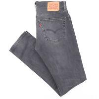 LEVI'S 511 Grey Denim Slim Straight Jeans Mens W31 L34