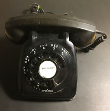 Vintage Black Phone Rotary Dial Automatic Electric Telephone Monophone 1970s