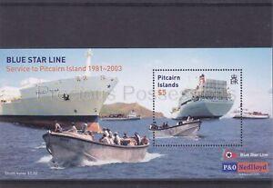 PITCAIRN ISLANDS MNH SHEET 2003 21 BLUE STAR LINE SG MS636