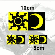X3 Valentino Rossi Sticker Sol Y Luna Vinilo calcomanía (y2)