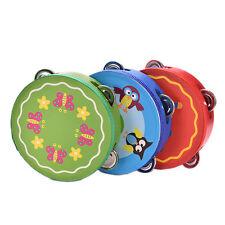 Kindertambourine-Druckblumen-Handtrommel-Baby-Schlafenszeit-Spielzeug Gut