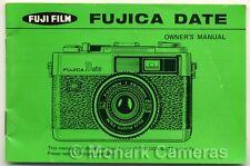 Fujica Date Instruction Book. More Fuji 35mm Compact Camera Manuals Listed