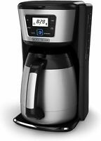 12 Cup Thermal Coffeemaker Thermal Carafe Black Silver