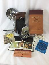 Vintage POLAROID Land Camera Folding MODEL 95 w/ Box Accessories Manuals