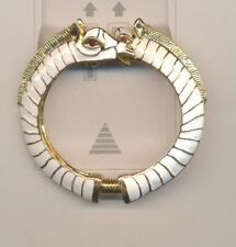 Kenneth Lane Kjl White Enamel Fancy Double Horse Head Bracelet