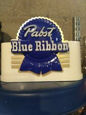 vintage pabst blue ribbon foam scraper holder