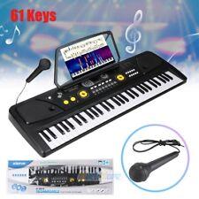 61 Key Music Digital Electronic Keyboard Electric Piano Organ w/ Music Stand&Mic