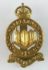 WW1 Northumberland Hussars Yeomanry Regiment Cap Badge - Slider to Rear
