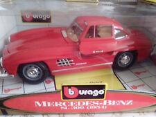 1 18 Burago MERCEDES BENZ 300 SL Flügeltürer In rot