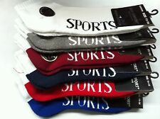 6 X MIXED NEW MENS BEST COTTON CUSHION ANKLE SPORTS SOCKS KING/LARGE SIZE: 11-14