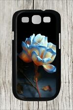 FLOWER BLUE AND WHITE ROSE CASE COVER FOR SAMSUNG GALAXY S3 -a3e4r5