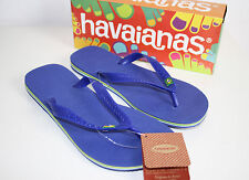 Original HAVAIANAS Brasil Zehentreter Azul marine blau Gr. 35/36 UVP 22,95€