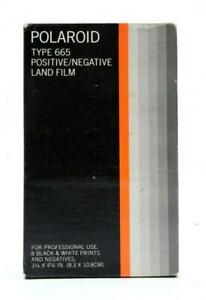 Polaroid Type 665 Positive/Negative Black & White Land Film (8Prints) #31562