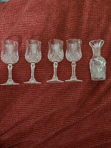 Vintage Crystal Cordial Set
