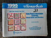 Thomas Guide - King/Pierce/Snohomish Co Street Guide with zip codes  - 1995