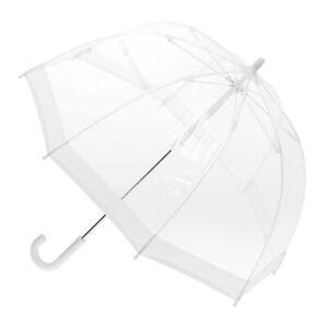 Children's Clear Birdcage Umbrella with White Trim