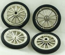 Toy Parts - Ertl New Old Stock  Silver Wheels with Black Tires Set of Four
