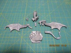 Ral Partha Dragonlance Huma's Silver Dragon metal no rider missing one horn OOP