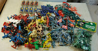 Vintage Lot 260+ Plastic Toy Soldiers Army Civil War Cowboys Many Diorama Colors