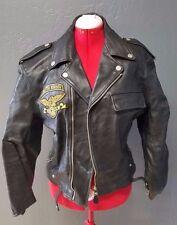 Vintage Leather Jacket Biker Womens L High Desert Rally '75 Genuine TF
