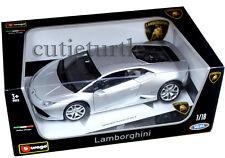 Bburago Lamborghini Huracan LP610-4 1:18 Diecast Model Car 18-11038 Silver