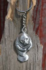 Made in USA Lead Free Pewter Manatee Keychain ocean sea gift metal key chain NEW