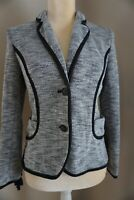 Anthropologie Cartonnier Womens Black Gray Sweater Blazer Jacket Sz Small