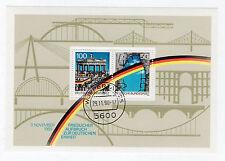 Briefmarken Block Deutsche Einheit BRD 1990 gestempelt in Wuppertal
