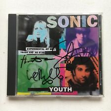 SONIC YOUTH - EXPERIMENTAL JET SET TRASH AND NO HAND SIGNED CD ALBUM AUTOGRAPHED
