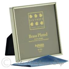 4 x 4 inch Brass Plated Photo Frame Sixtrees Hartford 1-400-44