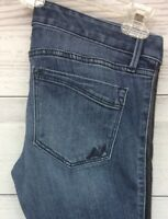Express Jeans Size 4R Ankle Legging Stella Low Rise Pleather Down Sides
