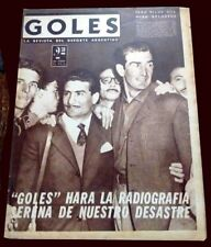 SOCCER WORLD CUP Sweden 1958 RARE Goles Magazine Argentina