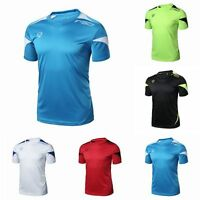 Short Sleeve Crew Neck T-shirt Fitness Gym Casual Sports Blouse Tops For Men