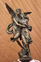 Cupid &Psyche God Eros Amor Statue Sculpture Moreau Bronze Antique Reproduction