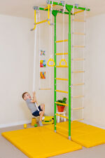 Comet 1 - Kids Indoor Gym - Home Playground Set - Swedish Wall No Holes to Drill