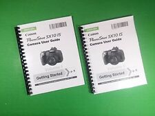 LASER Printed Canon SX10IS Power Shot Camera 292 Page Owners Manual Guide